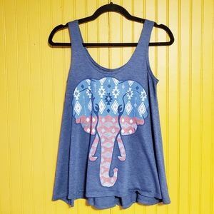 LOL Vintage Elephant Tank Top Size Small
